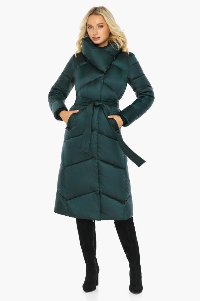 """Изумрудная куртка женская элегантная модель 47260 Braggart """"Angel's Fluff"""" фото 2"""