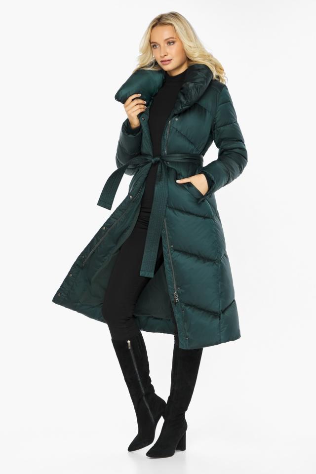 """Изумрудная куртка женская элегантная модель 47260 Braggart """"Angel's Fluff"""" фото 3"""