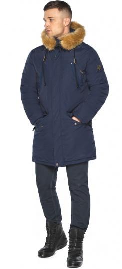 """Парка – воздуховик удобный мужской тёмно-синий зимний модель 30618 Braggart """"Angel's Fluff Man"""" фото 1"""