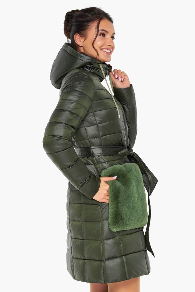 """Куртка женская оригинальная цвет темный хаки модель 31845 Braggart """"Angel's Fluff"""" фото 5"""