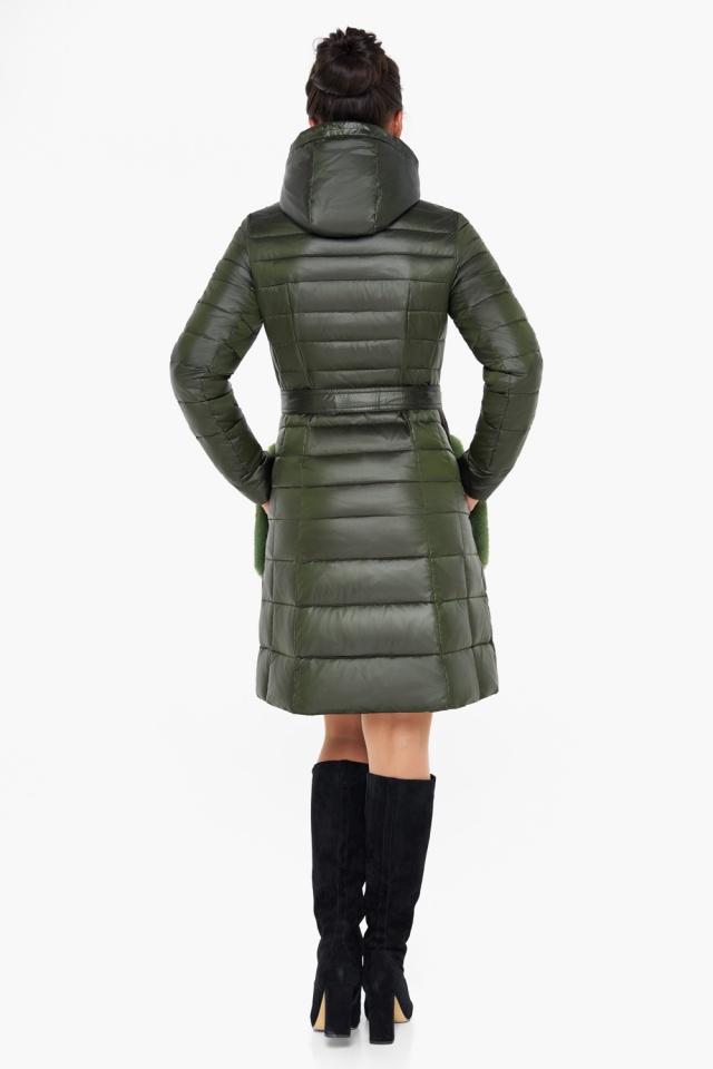"""Куртка женская оригинальная цвет темный хаки модель 31845 Braggart """"Angel's Fluff"""" фото 6"""