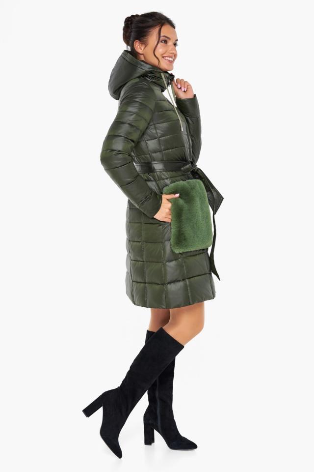 """Куртка женская оригинальная цвет темный хаки модель 31845 Braggart """"Angel's Fluff"""" фото 4"""