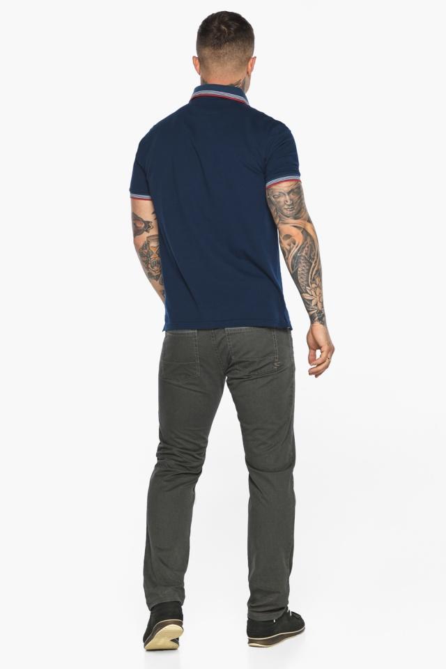 Трендовая мужская синяя футболка поло модель 5720 Braggart фото 7