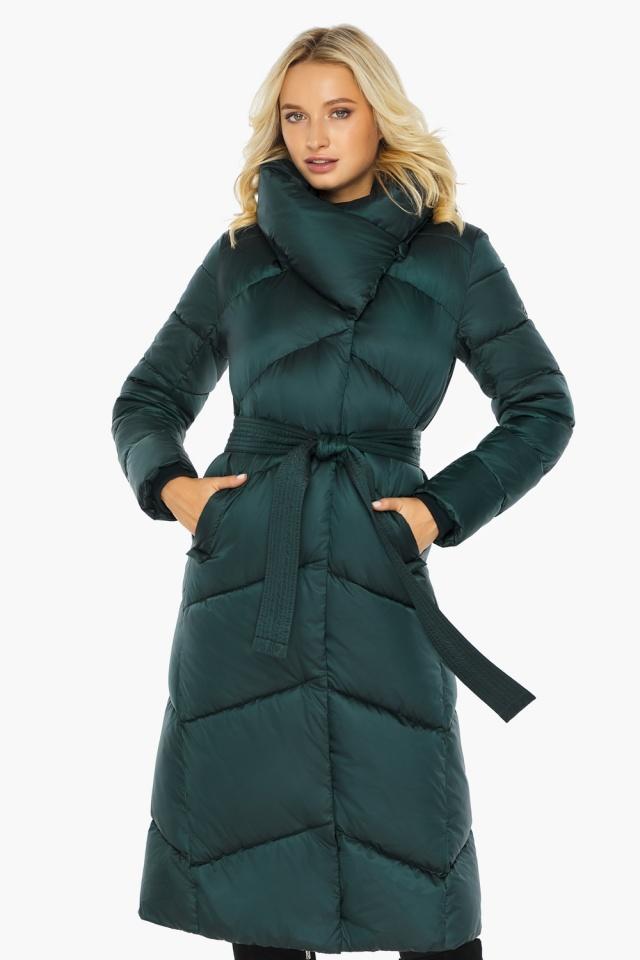 """Изумрудная куртка женская элегантная модель 47260 Braggart """"Angel's Fluff"""" фото 5"""