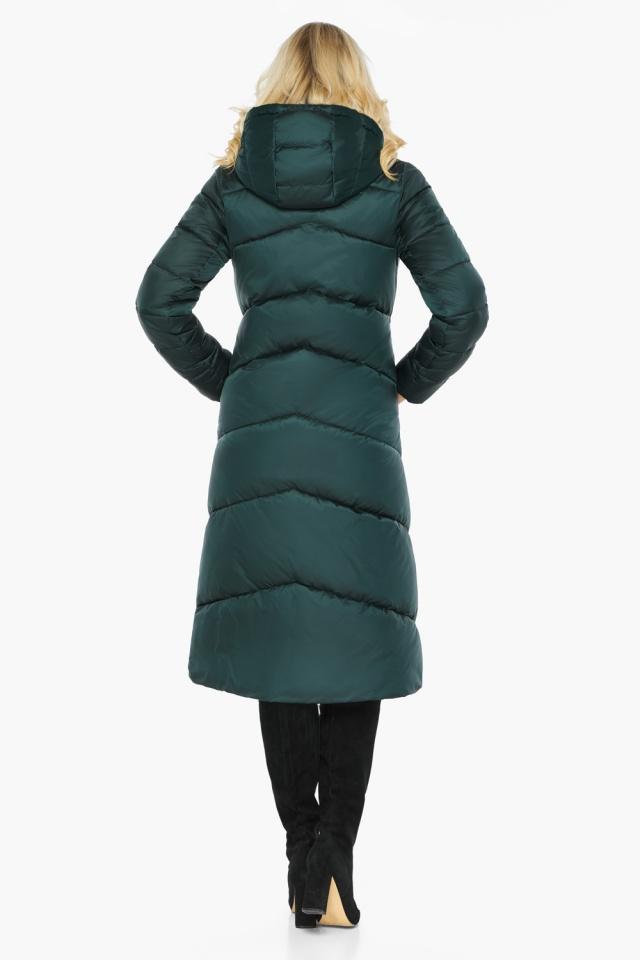 """Изумрудная куртка женская элегантная модель 47260 Braggart """"Angel's Fluff"""" фото 7"""