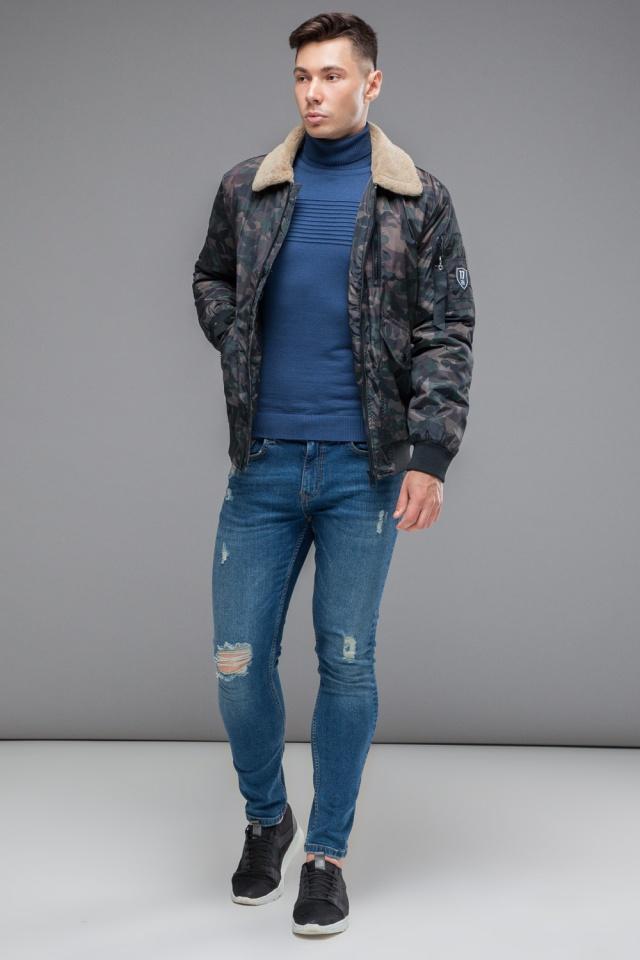 "Куртка бомбер на осень мужская тёмно-серого цвета модель 38666 Braggart ""Youth"" фото 3"