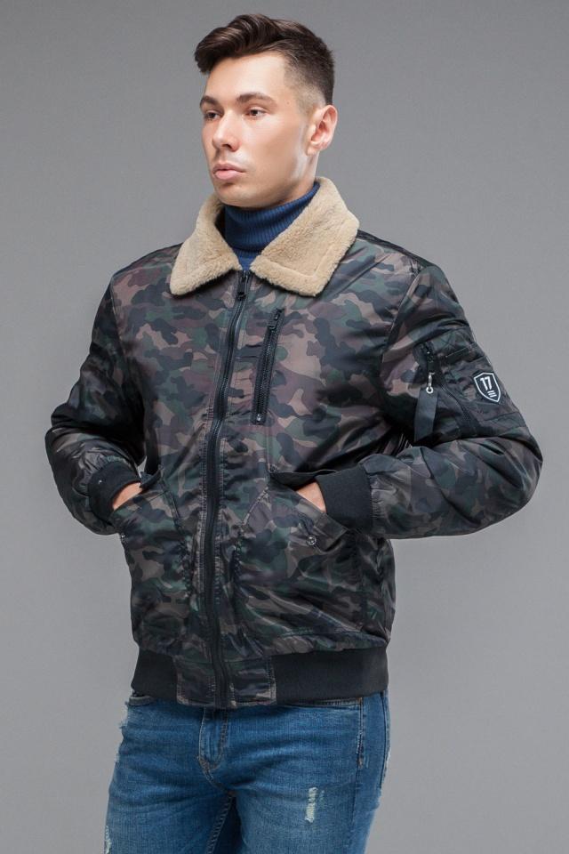 "Куртка бомбер на осень мужская тёмно-серого цвета модель 38666 Braggart ""Youth"" фото 4"