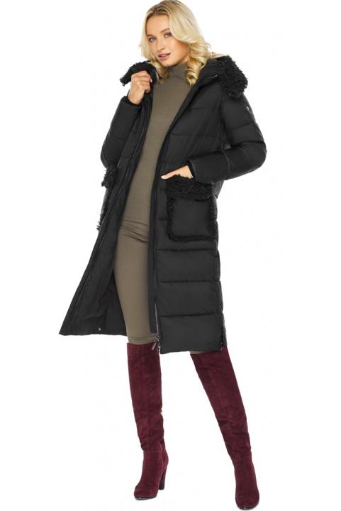 """Женская куртка оригинальная чёрная модель 47575  Braggart """"Angel's Fluff"""" фото 1"""