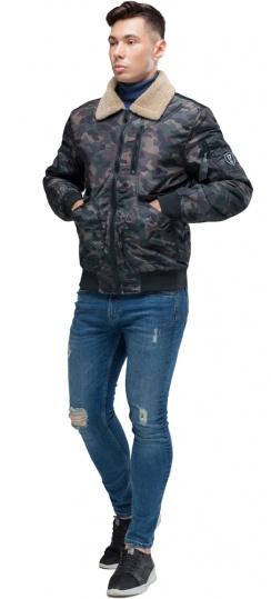 """Куртка бомбер на осінь чоловіча темно-сірого кольору модель 38666 Braggart """"Youth"""" фото 1"""