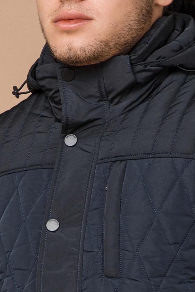 """Светло-синяя куртка стандартной длины зимняя мужская модель 30538 Braggart """"Dress Code"""" фото 6"""