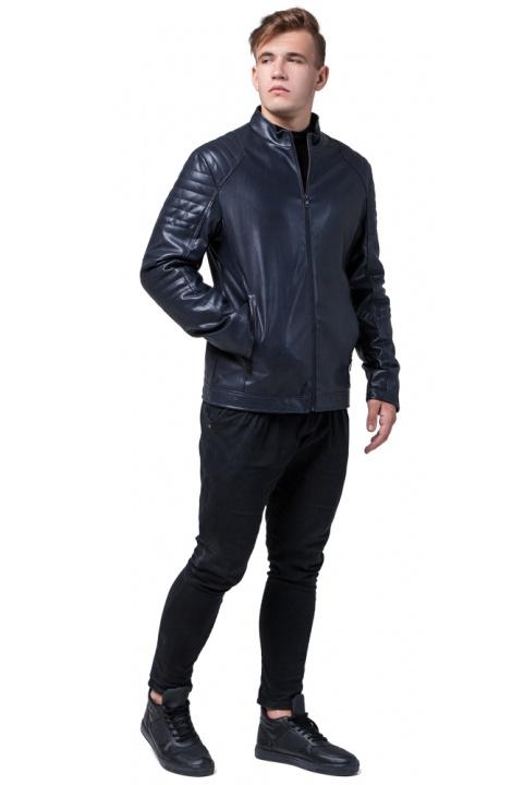 """Современная куртка тёмно-синего цвета осенне-весенняя мужская модель 4327 Braggart """"Youth"""" фото 1"""