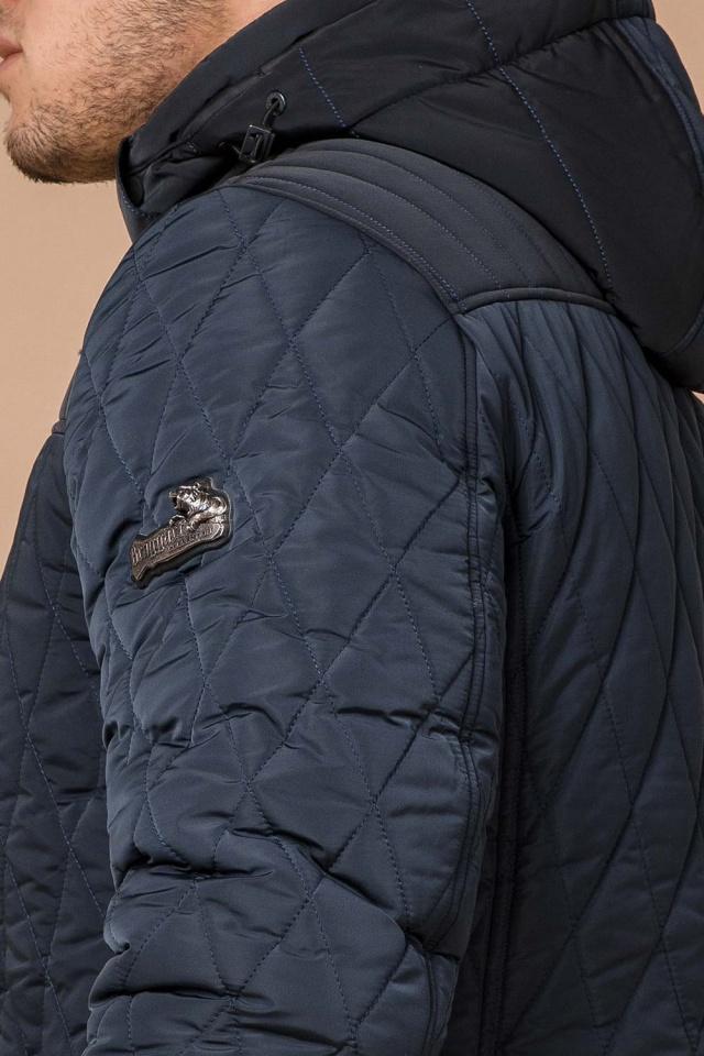 """Светло-синяя куртка стандартной длины зимняя мужская модель 30538 Braggart """"Dress Code"""" фото 8"""