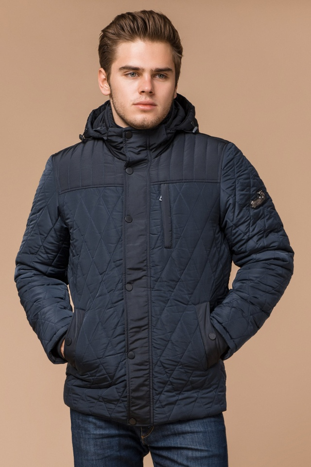 """Светло-синяя куртка стандартной длины зимняя мужская модель 30538 Braggart """"Dress Code"""" фото 4"""
