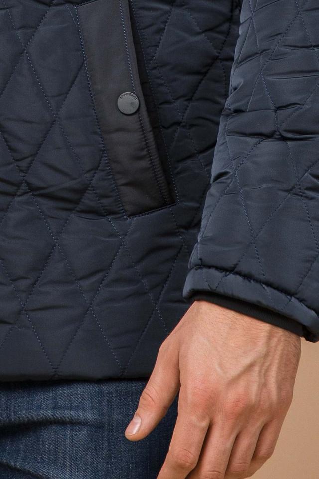 """Светло-синяя куртка стандартной длины зимняя мужская модель 30538 Braggart """"Dress Code"""" фото 7"""