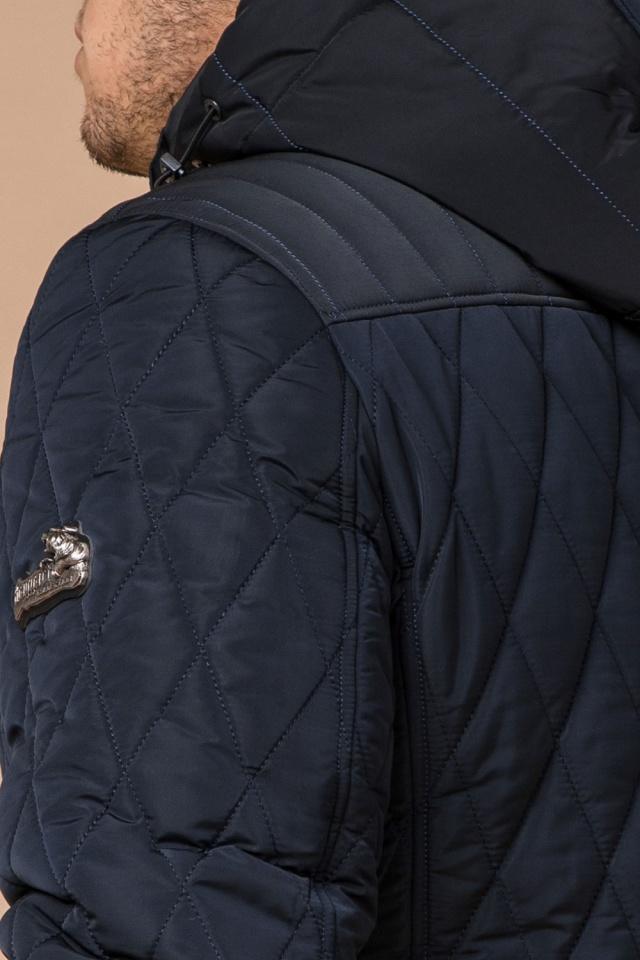 """Мужская зимняя куртка синего цвета теплая модель 30538 Braggart """"Dress Code"""" фото 8"""