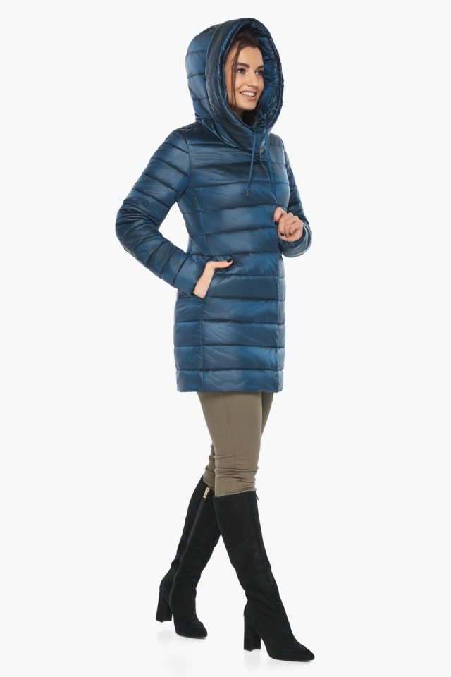 """Куртка на змейке женская цвет темная лазурь модель 65085 Braggart """"Angel's Fluff"""" фото 4"""