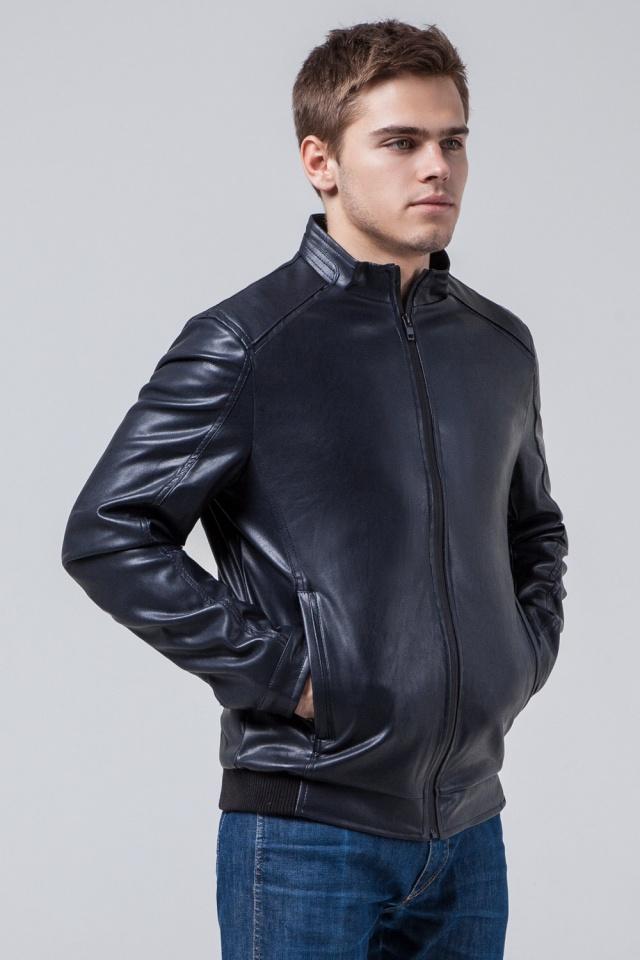 """Темно-синя коротка куртка осінньо-весняна для чоловіків модель 1588 Braggart """"Youth"""" фото 4"""