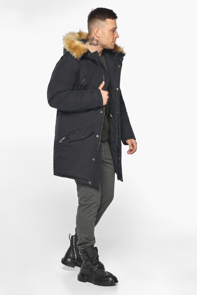 """Парка – воздуховик чёрный стильный мужской зимний модель 30618 Braggart """"Angel's Fluff Man"""" фото 4"""