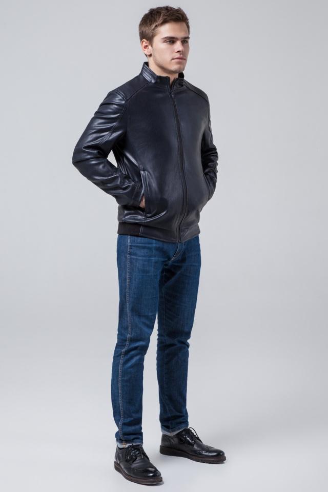 """Темно-синя коротка куртка осінньо-весняна для чоловіків модель 1588 Braggart """"Youth"""" фото 2"""
