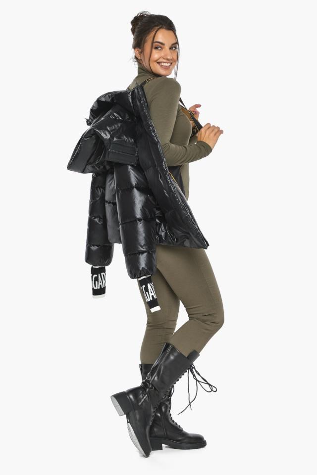 """Куртка черная зимняя женская комфортная модель 44520 Braggart """"Angel's Fluff"""" фото 4"""