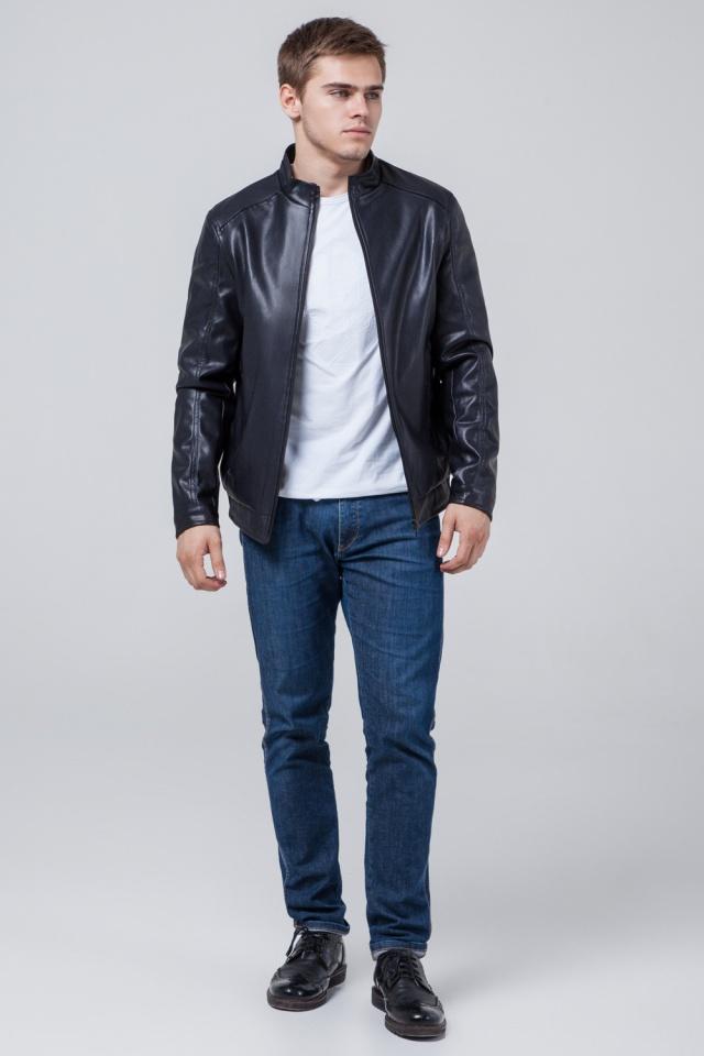 """Темно-синя коротка куртка осінньо-весняна для чоловіків модель 1588 Braggart """"Youth"""" фото 3"""