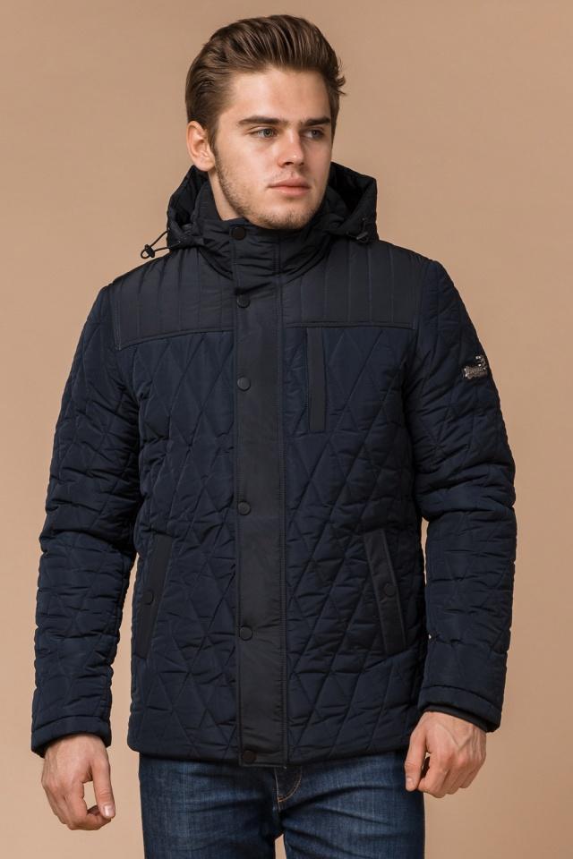 """Мужская зимняя куртка синего цвета теплая модель 30538 Braggart """"Dress Code"""" фото 4"""