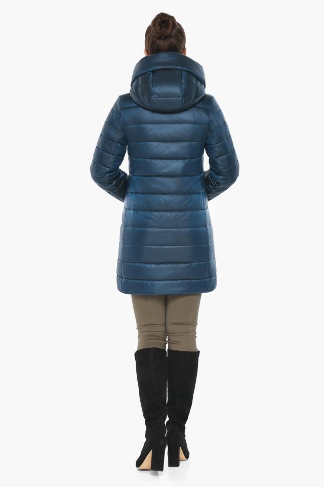 """Куртка на змейке женская цвет темная лазурь модель 65085 Braggart """"Angel's Fluff"""" фото 6"""