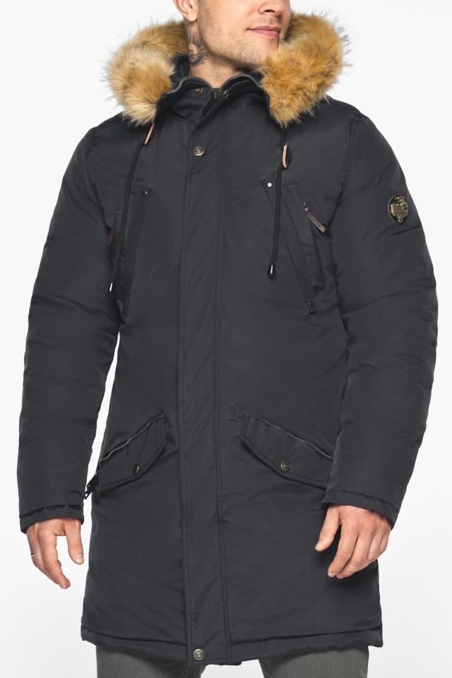 """Парка – воздуховик чёрный стильный мужской зимний модель 30618 Braggart """"Angel's Fluff Man"""" фото 9"""