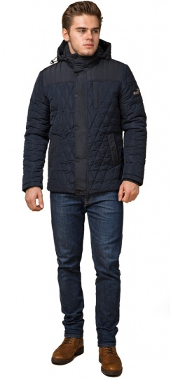 """Мужская зимняя куртка синего цвета теплая модель 30538 Braggart """"Dress Code"""" фото 1"""