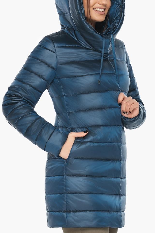 """Куртка на змейке женская цвет темная лазурь модель 65085 Braggart """"Angel's Fluff"""" фото 7"""