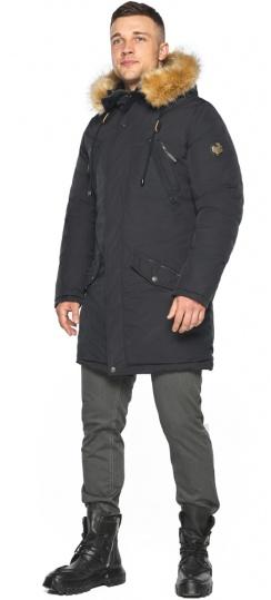 """Парка – воздуховик чёрный стильный мужской зимний модель 30618 Braggart """"Angel's Fluff Man"""" фото 1"""