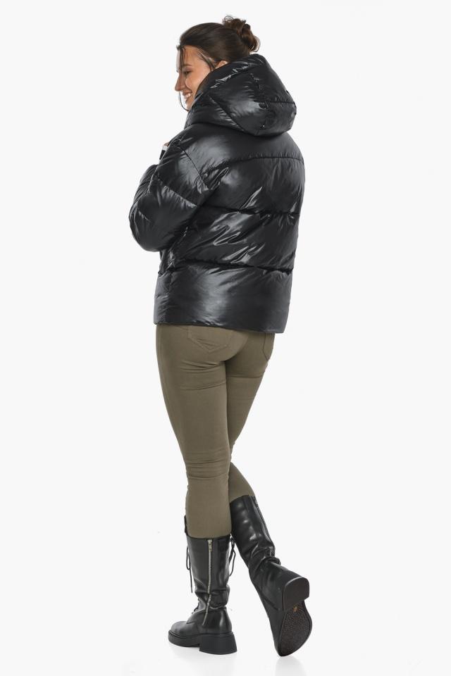 """Куртка черная зимняя женская комфортная модель 44520 Braggart """"Angel's Fluff"""" фото 9"""