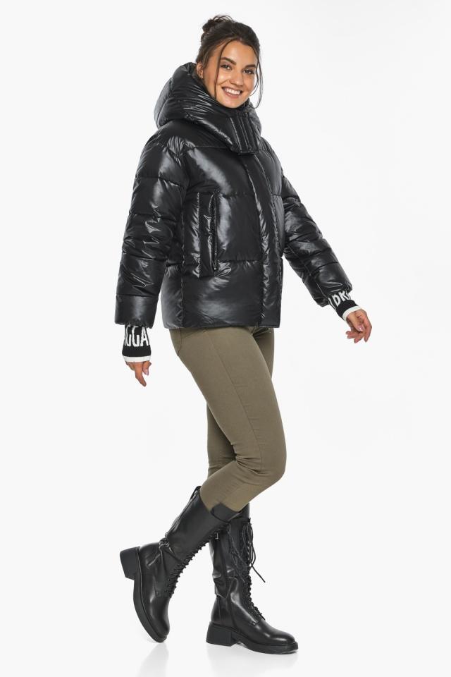 """Куртка черная зимняя женская комфортная модель 44520 Braggart """"Angel's Fluff"""" фото 7"""