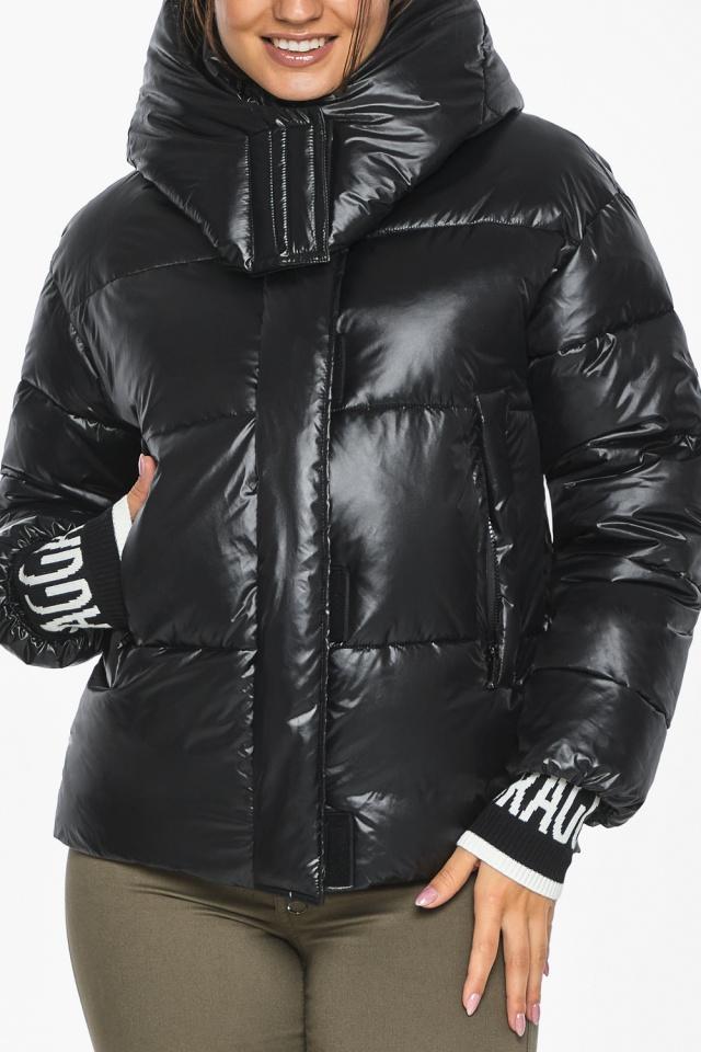 """Куртка черная зимняя женская комфортная модель 44520 Braggart """"Angel's Fluff"""" фото 10"""