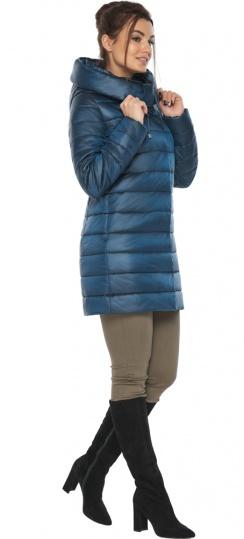 """Куртка на змейке женская цвет темная лазурь модель 65085 Braggart """"Angel's Fluff"""" фото 1"""