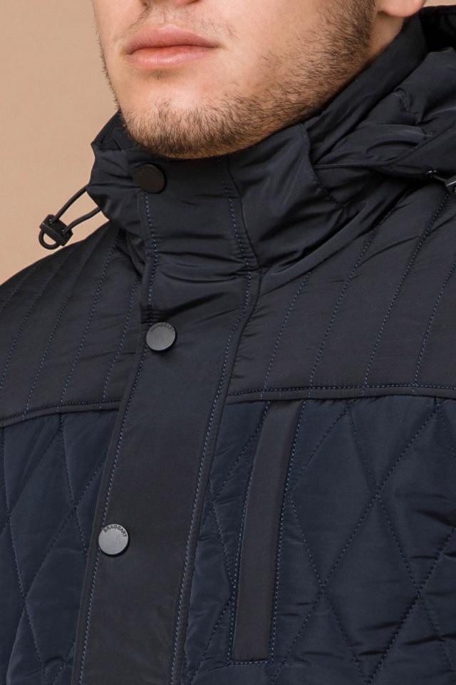 """Мужская зимняя куртка синего цвета теплая модель 30538 Braggart """"Dress Code"""" фото 6"""