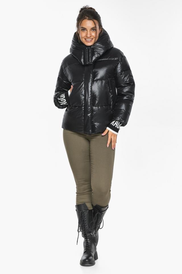 """Куртка черная зимняя женская комфортная модель 44520 Braggart """"Angel's Fluff"""" фото 6"""