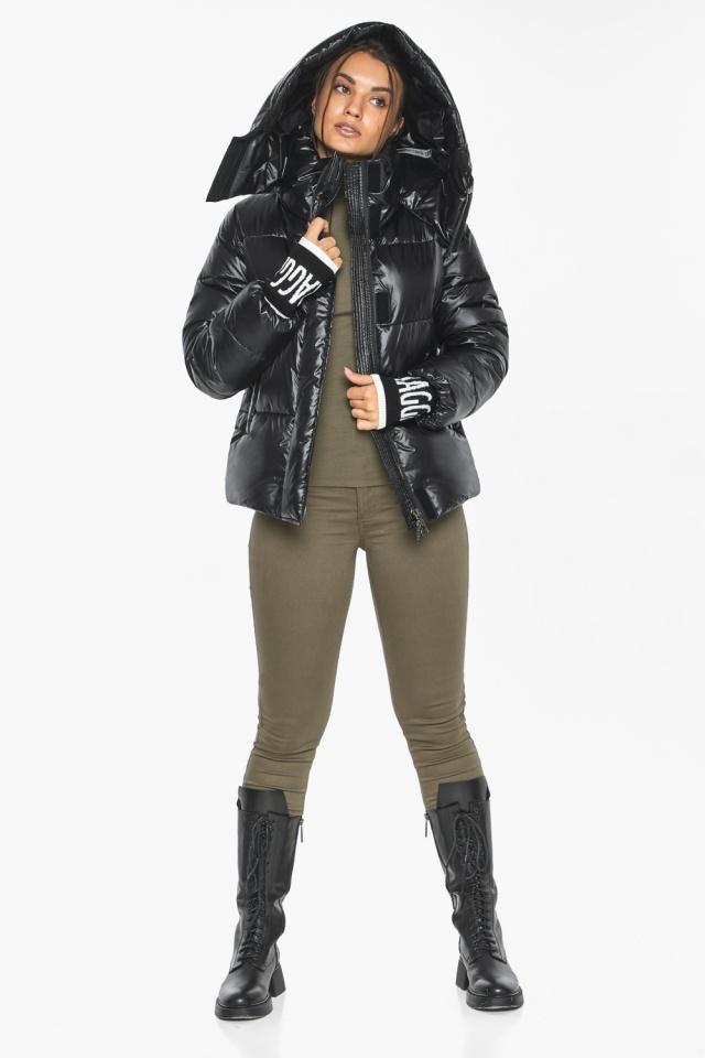 """Куртка черная зимняя женская комфортная модель 44520 Braggart """"Angel's Fluff"""" фото 5"""