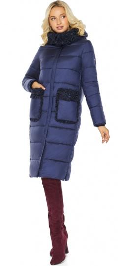 """Куртка женская длинная цвет синий бархат модель 47575 Braggart """"Angel's Fluff"""" фото 1"""