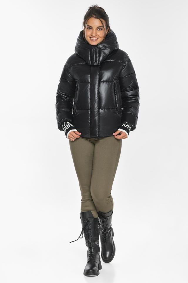 """Куртка черная зимняя женская комфортная модель 44520 Braggart """"Angel's Fluff"""" фото 2"""