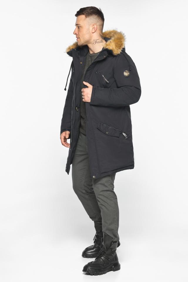 """Парка – воздуховик чёрный стильный мужской зимний модель 30618 Braggart """"Angel's Fluff Man"""" фото 6"""