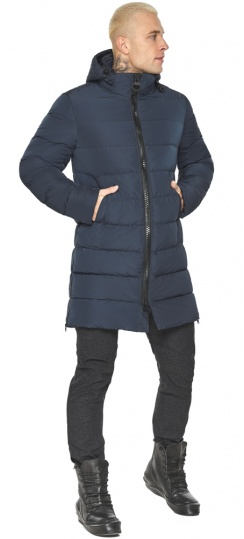 """Графитово-синяя фирменная куртка мужская модель 49032 Braggart """"Aggressive"""" фото 1"""