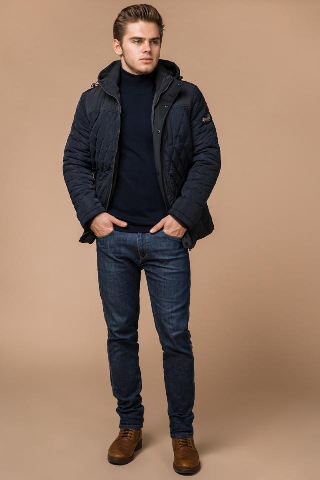 """Мужская зимняя куртка синего цвета теплая модель 30538 Braggart """"Dress Code"""" фото 3"""