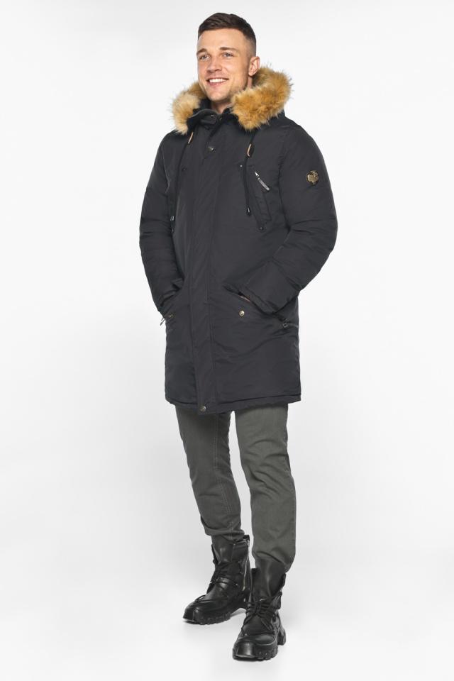 """Парка – воздуховик чёрный стильный мужской зимний модель 30618 Braggart """"Angel's Fluff Man"""" фото 5"""