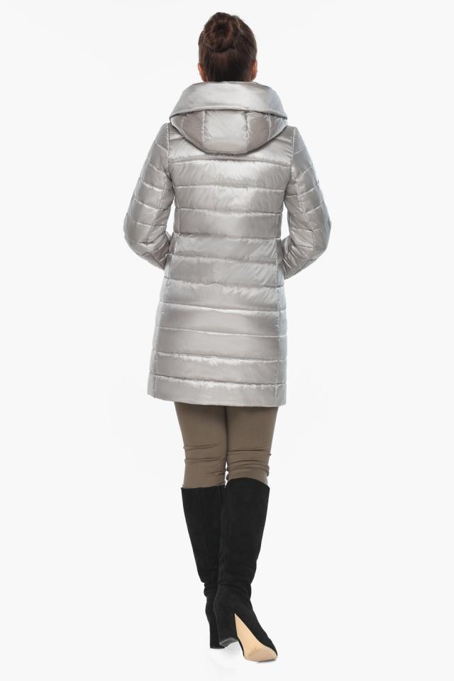 """Куртка фирменная женская цвет перламутровый светло-серый модель 65085 Braggart """"Angel's Fluff"""" фото 7"""