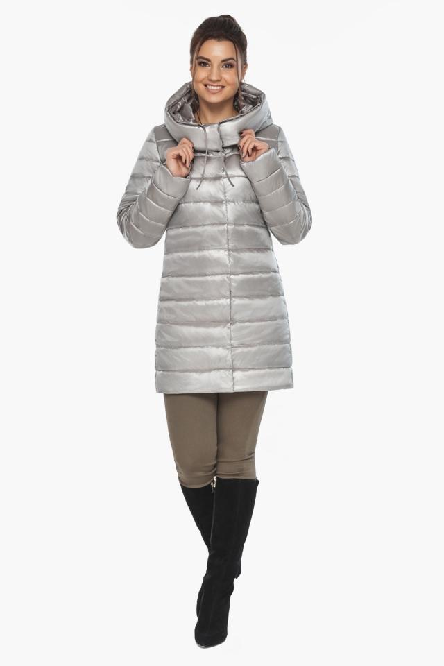 """Куртка фирменная женская цвет перламутровый светло-серый модель 65085 Braggart """"Angel's Fluff"""" фото 5"""