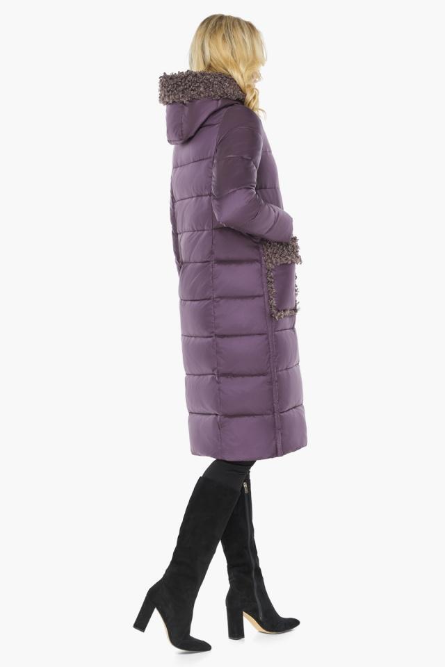 """Баклажановая куртка с брендовой фурнитурой женская модель 47575 Braggart """"Angel's Fluff"""" фото 9"""