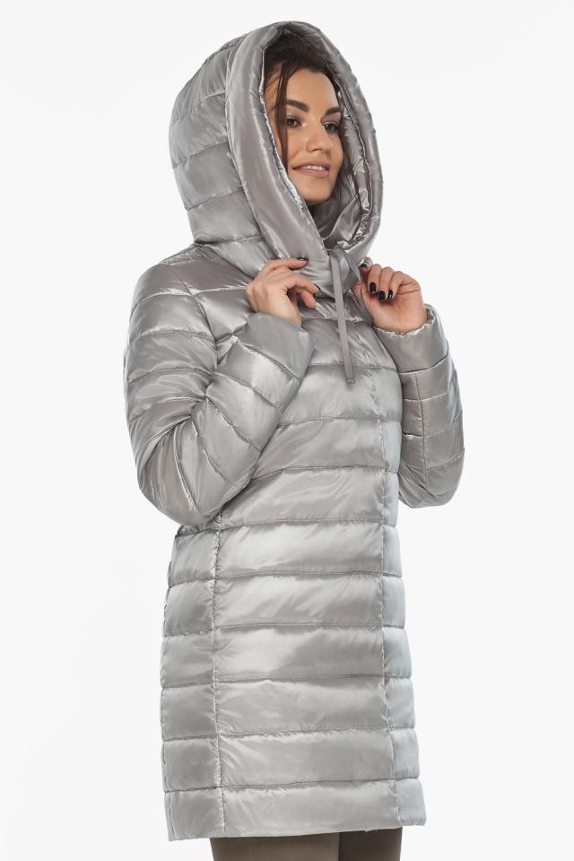 """Куртка фирменная женская цвет перламутровый светло-серый модель 65085 Braggart """"Angel's Fluff"""" фото 3"""