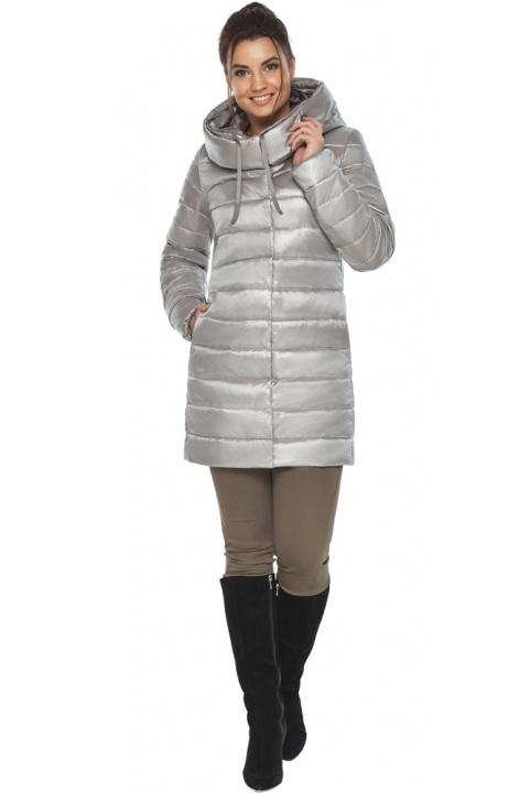 """Куртка фирменная женская цвет перламутровый светло-серый модель 65085 Braggart """"Angel's Fluff"""" фото 1"""
