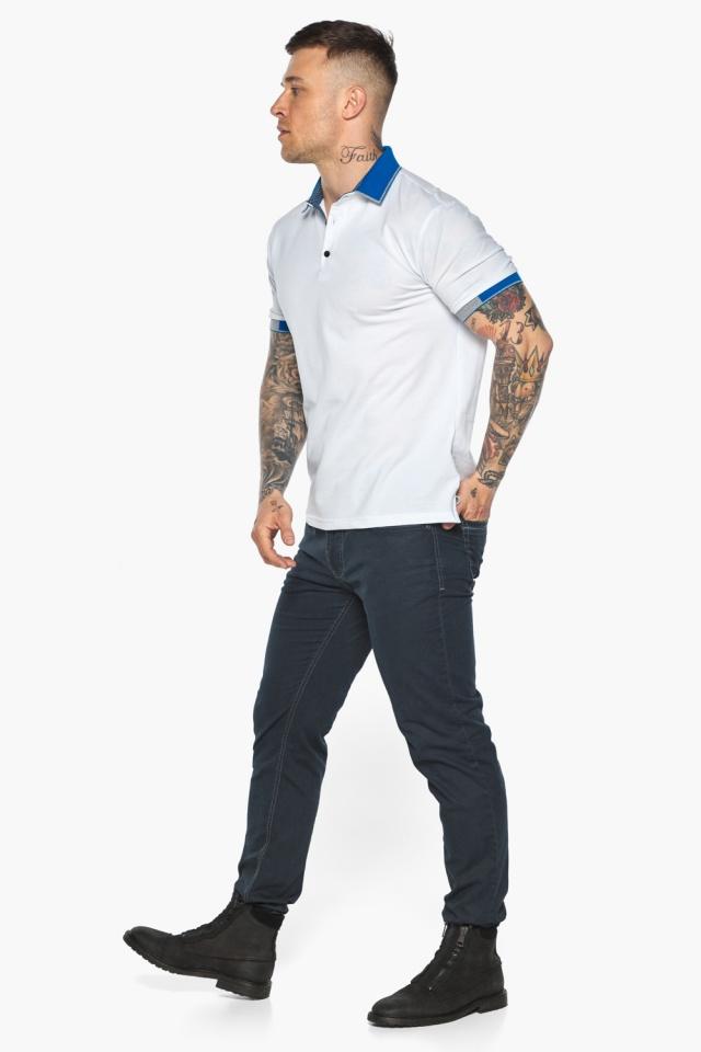 Мужская удобная белая футболка поло модель 5216 Braggart фото 5
